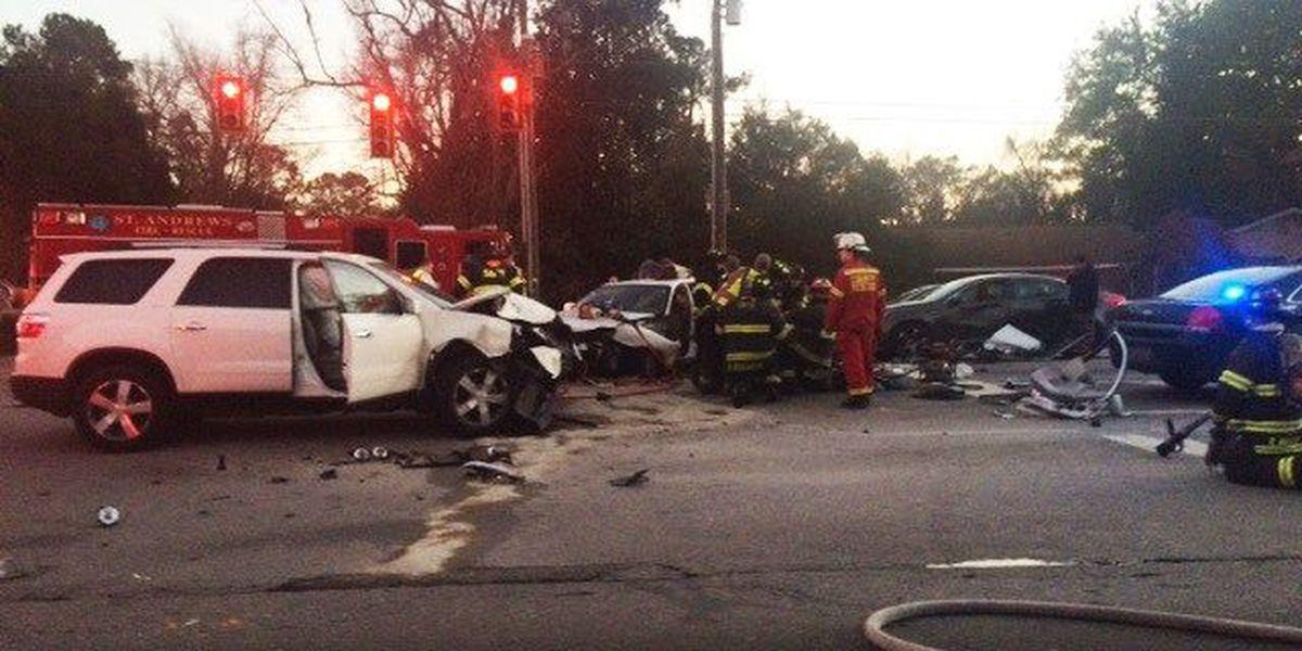 Five people injured in multi-vehicle accident on Savannah Highway