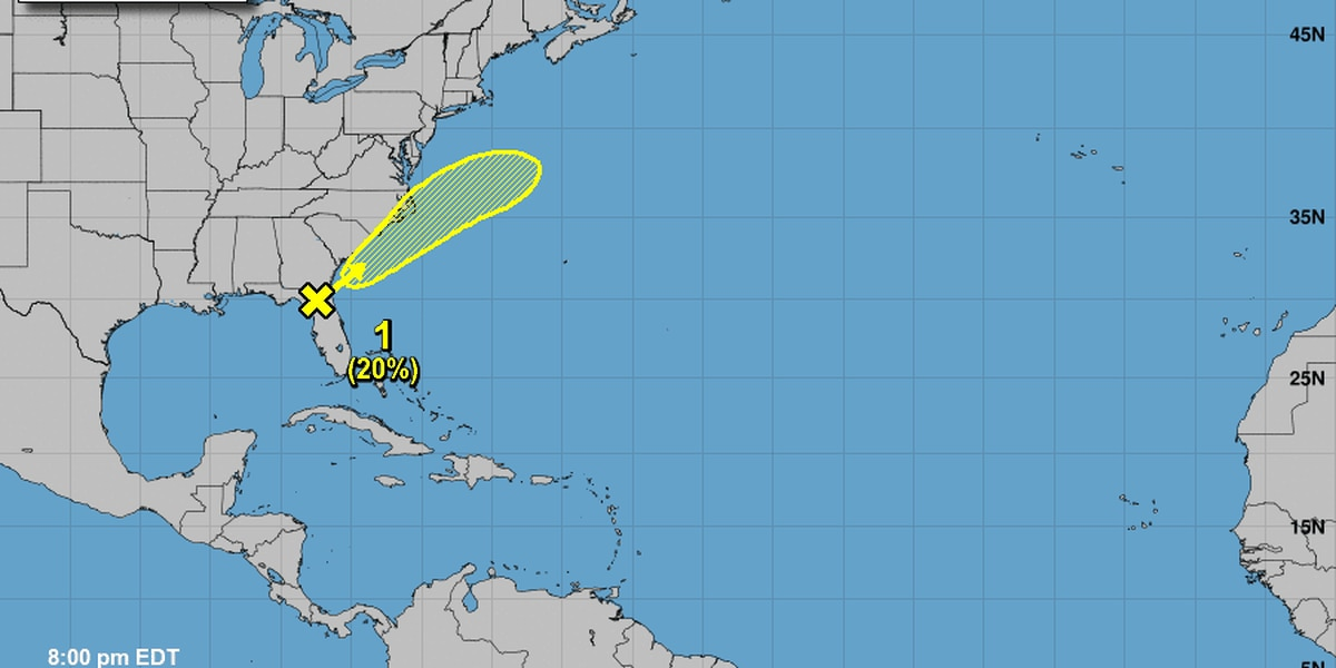 Disturbance in Florida could bring heavy rain to South Carolina