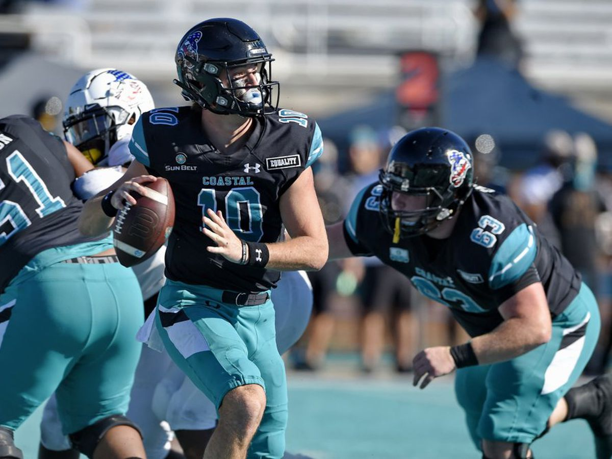 No. 15 Coastal Carolina rallies past Appalachian State 34-23