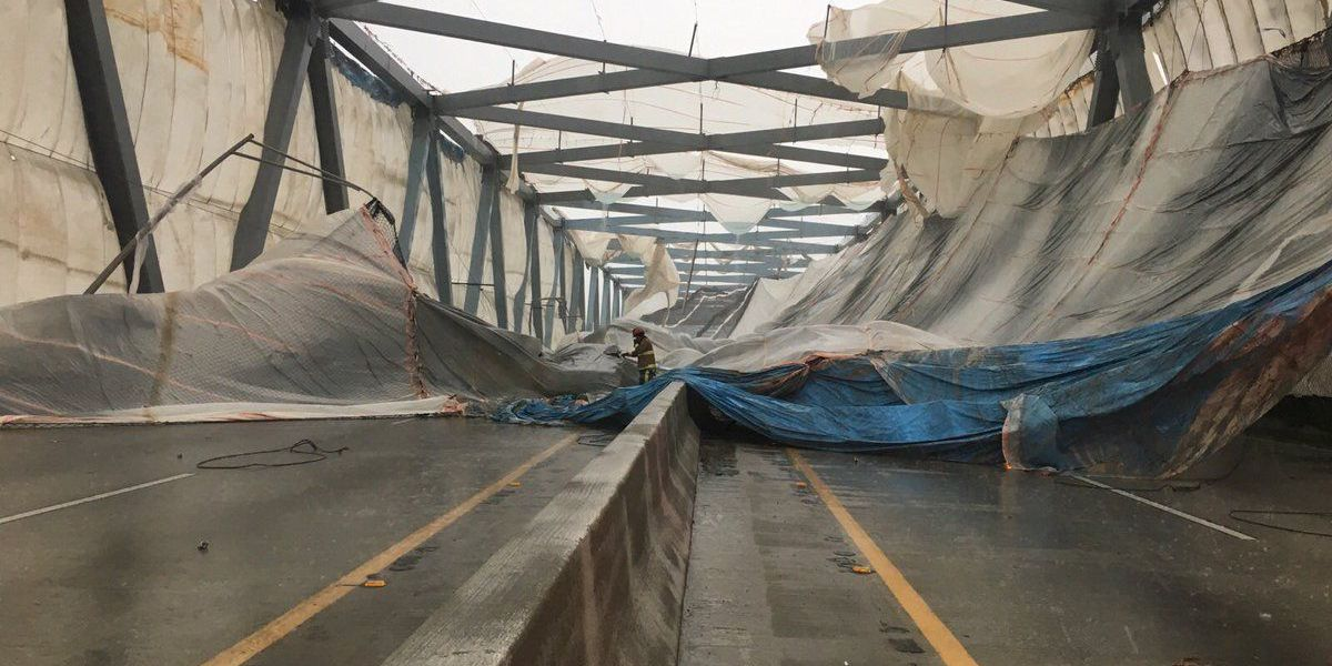 Claims process in place for drivers with damage from Don Holt tarp