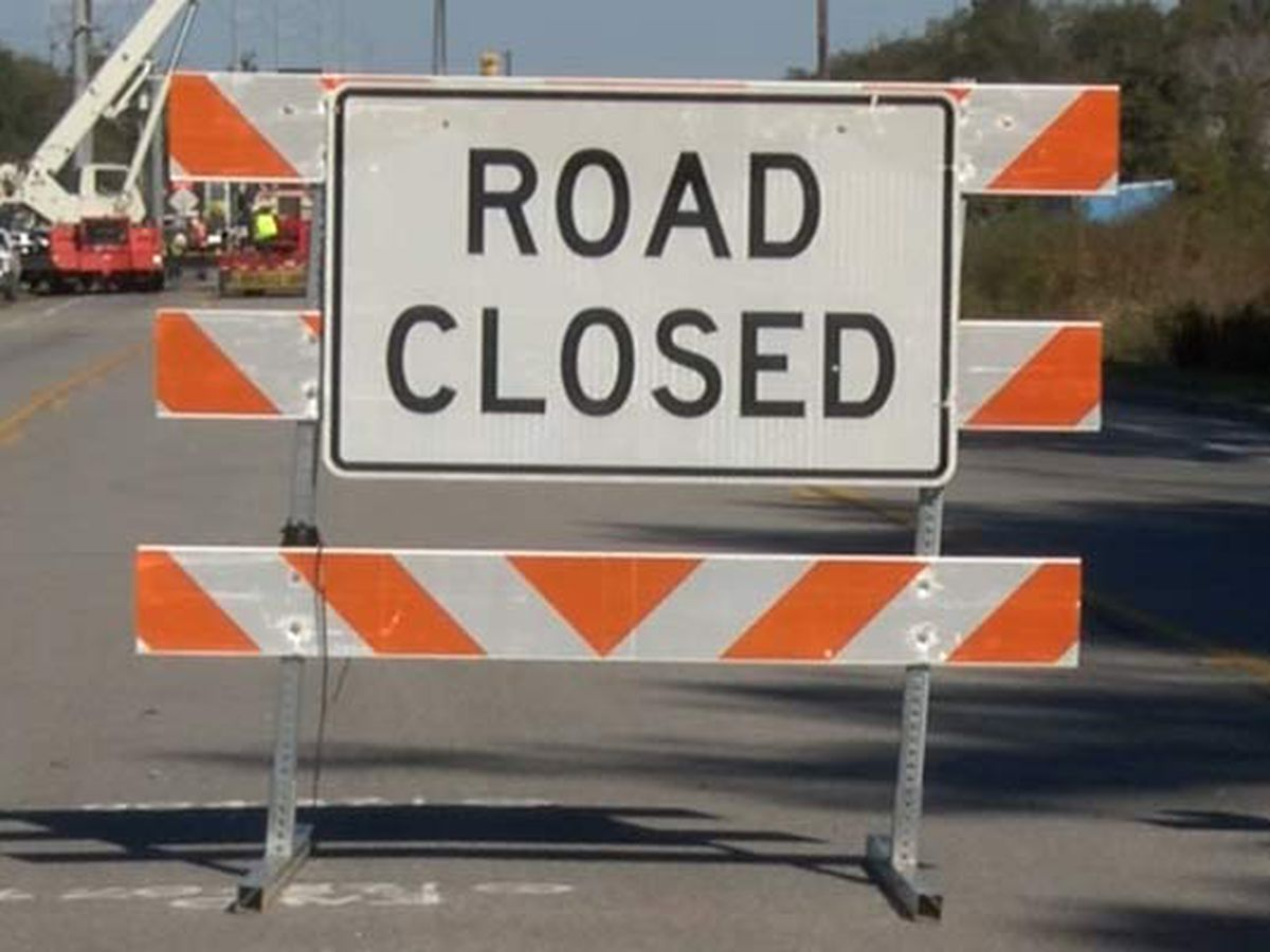 James Island road closed for construction