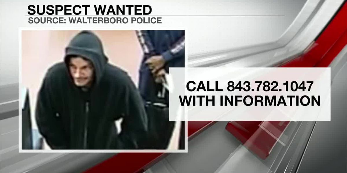 VIDEO: Police searching for suspect in Walterboro bank robbery