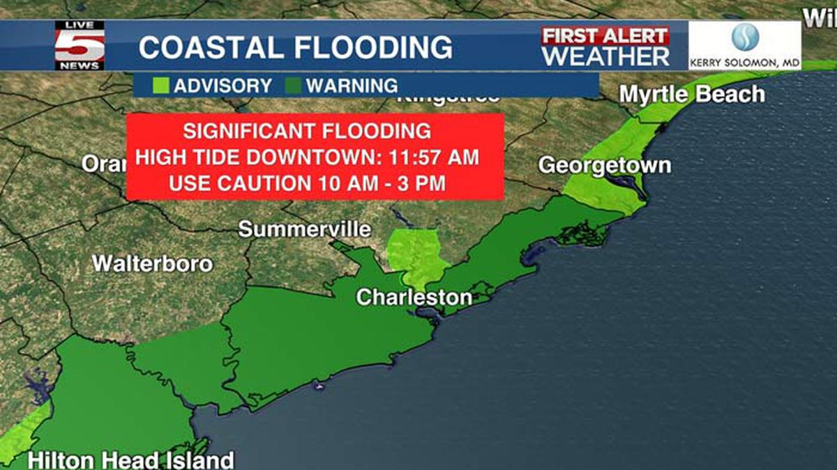 FIRST ALERT: Coastal flood warning, high rip current risk in effect Monday