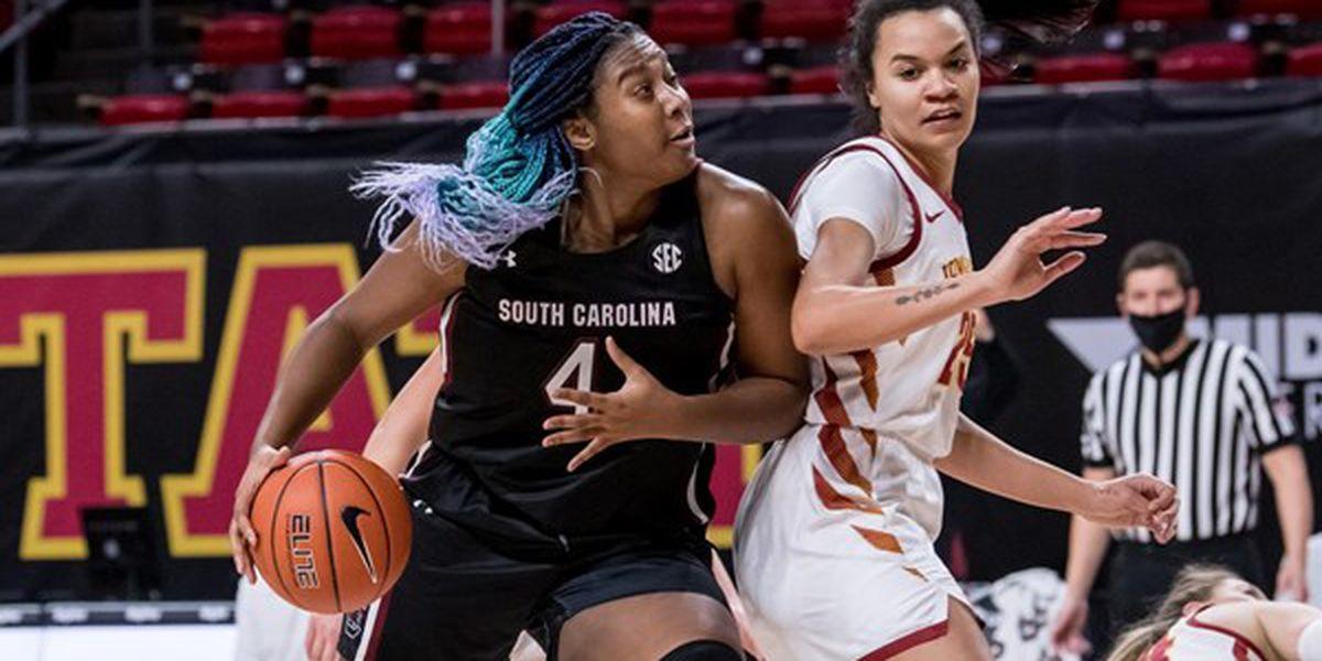 No. 1 South Carolina rolls past No. 23 Iowa State, 83-65