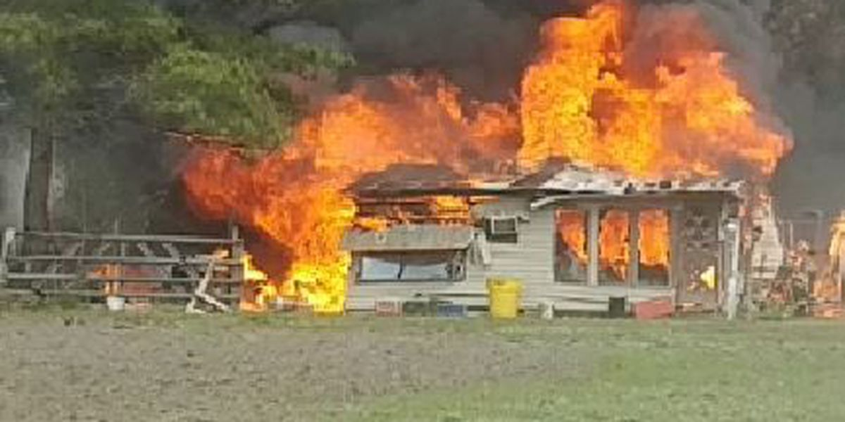 Firefighters: Colleton Co. woods fire destroys home, burns 100 acres