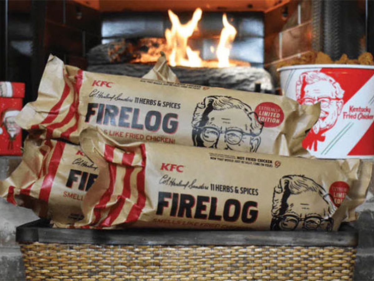 KFC introduces firelog that smells like fried chicken