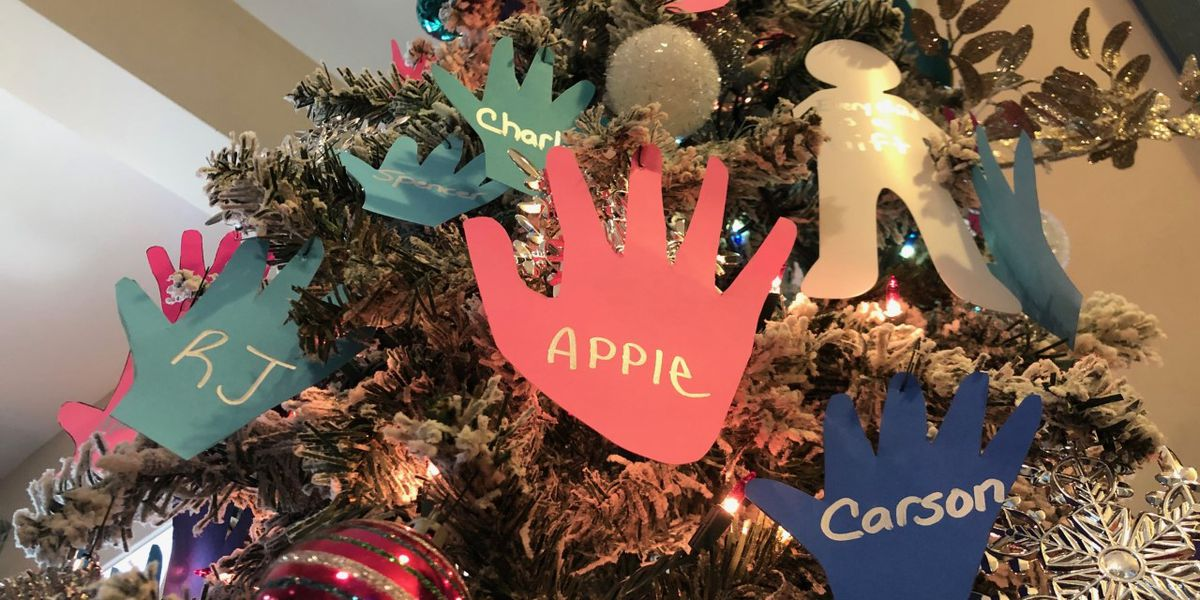 S.C. family hangs 75 handprints on Christmas tree for all those they fostered
