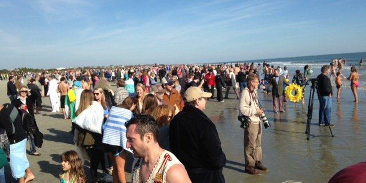 Hundreds attend Polar Bear Plunge on Sullivan's Island