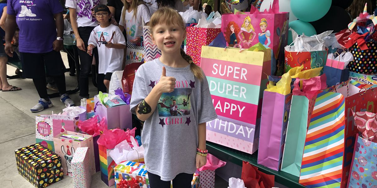 SC 8-year-old celebrates birthday with hundreds after mom's social media post