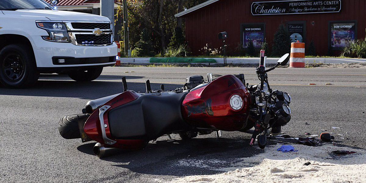 Deputies working accident involving motorcycle on Folly Rd., traffic impacted