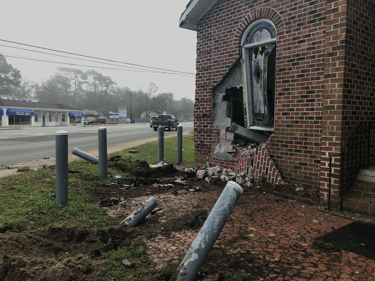 Police: Man charged with DUI after crashing into W. Ashley church early Thursday morning