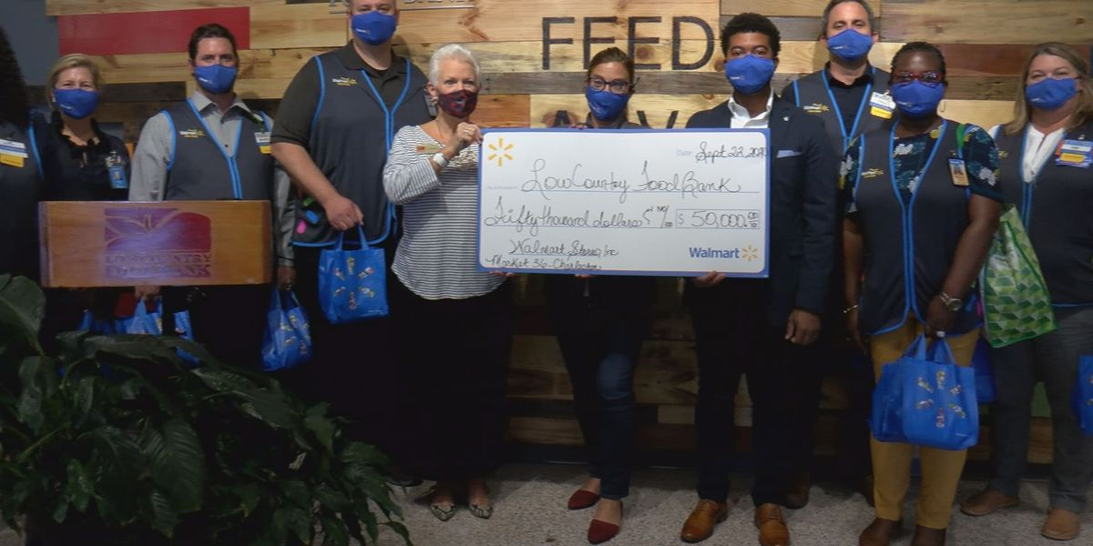 Walmart donates $50K to the Lowcountry Food Bank