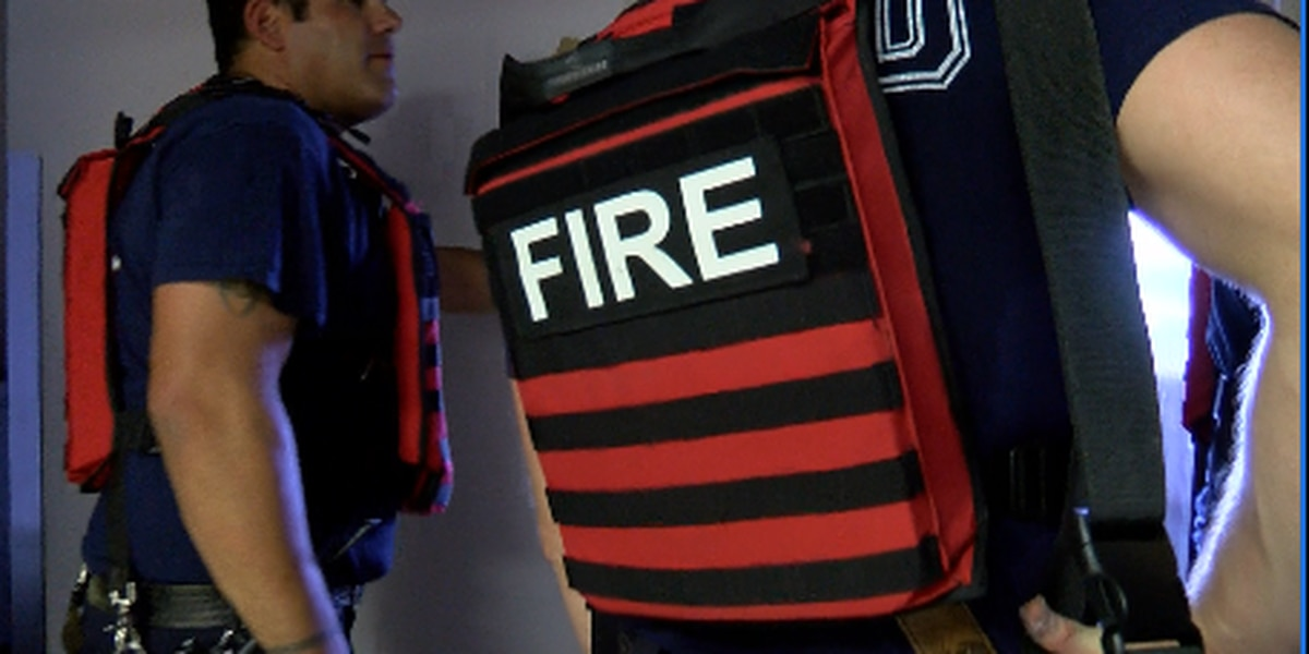 Firefighters test new armored vests