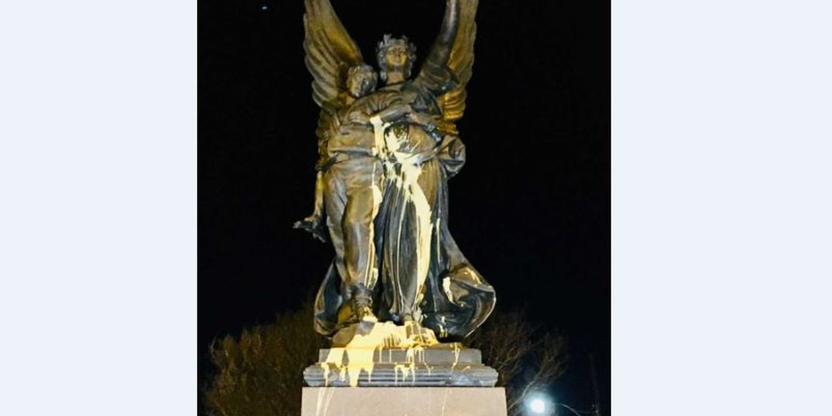 Pair being sought in vandalism of Confederate monument in Salisbury