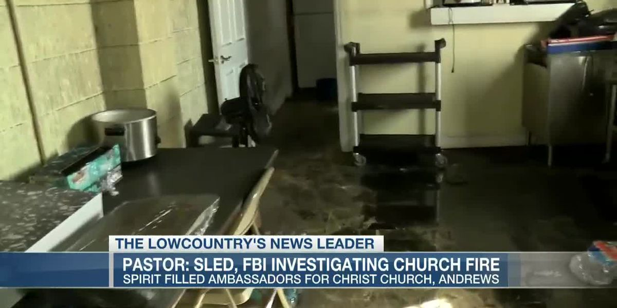 VIDEO: FBI, SLED investigating church fire in Georgetown County