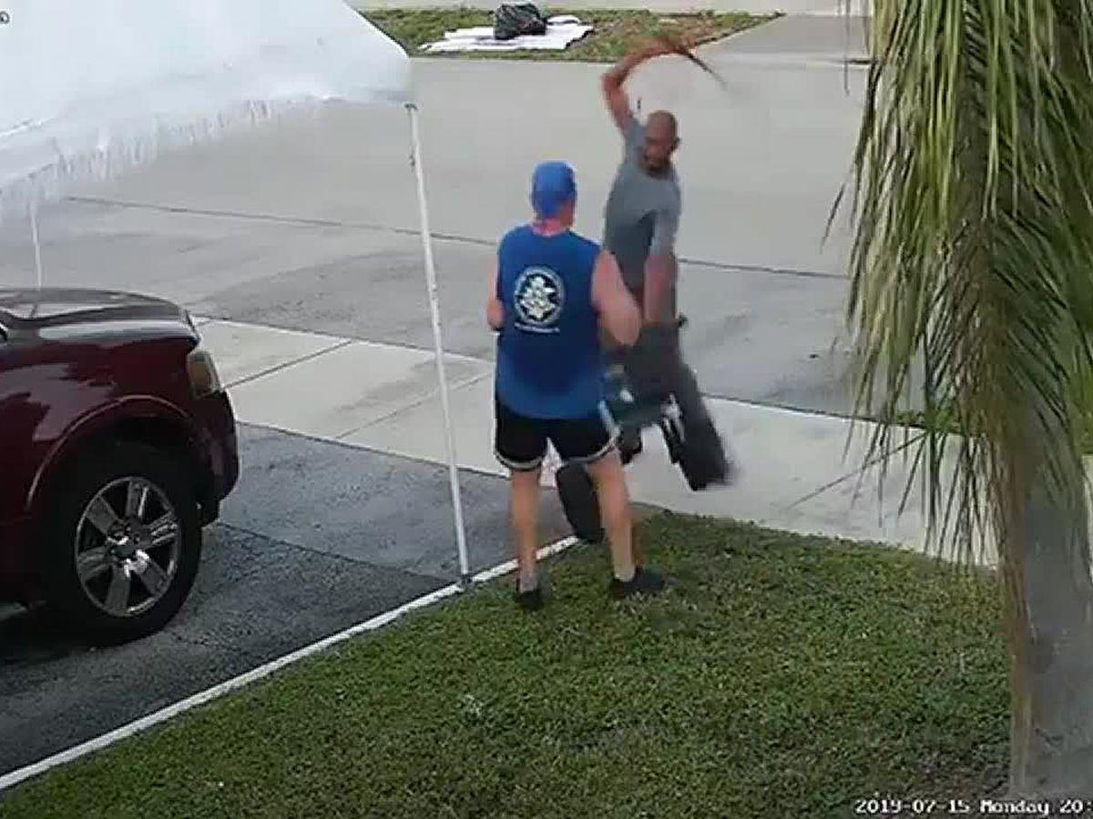 Florida man attacks jogger with sword after dispute over trash