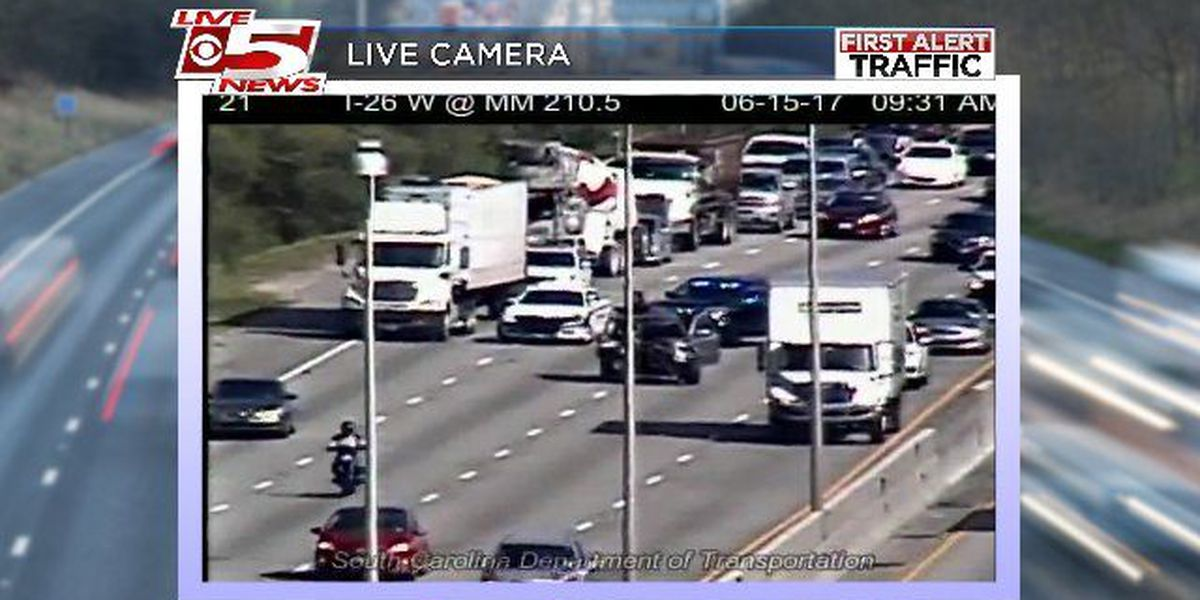 All lanes reopened on I-26 EB after crash near Midland Park Rd.