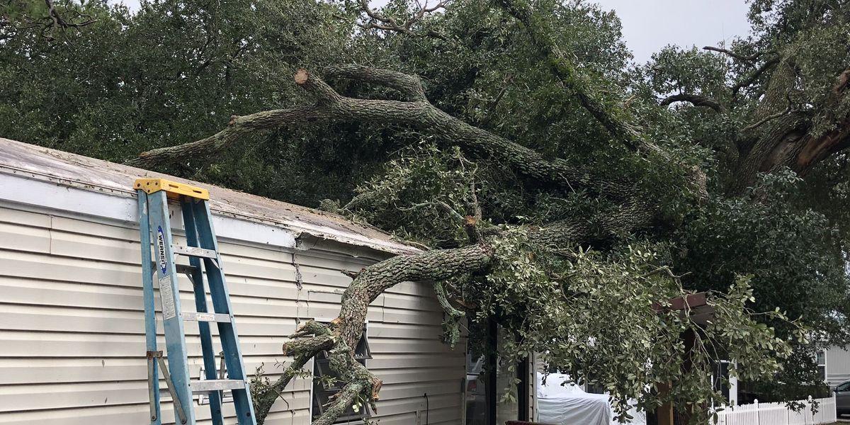 Tornado damages homes in Myrtle Beach neighborhood