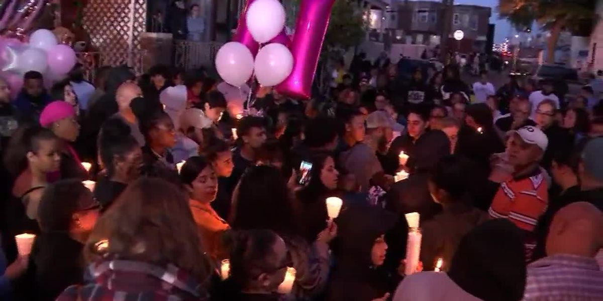 Community holds vigil after 2-year-old girl fatally shot in mother's arms in Philadelphia