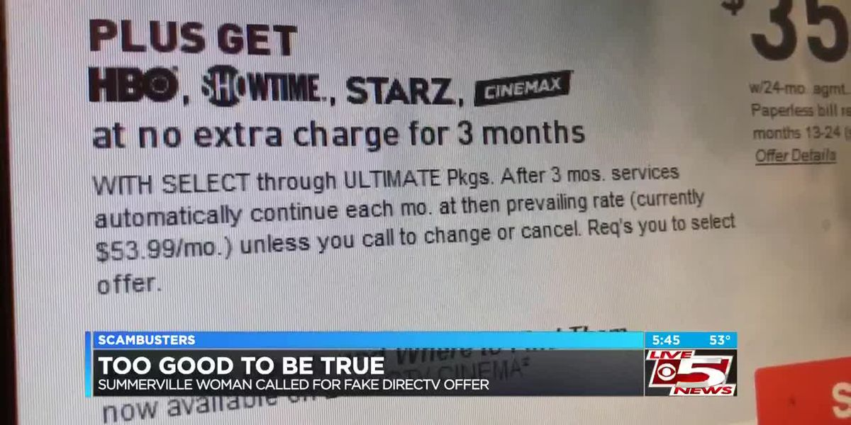 Live 5 Scambusters: Summerville woman reports DirecTV scam