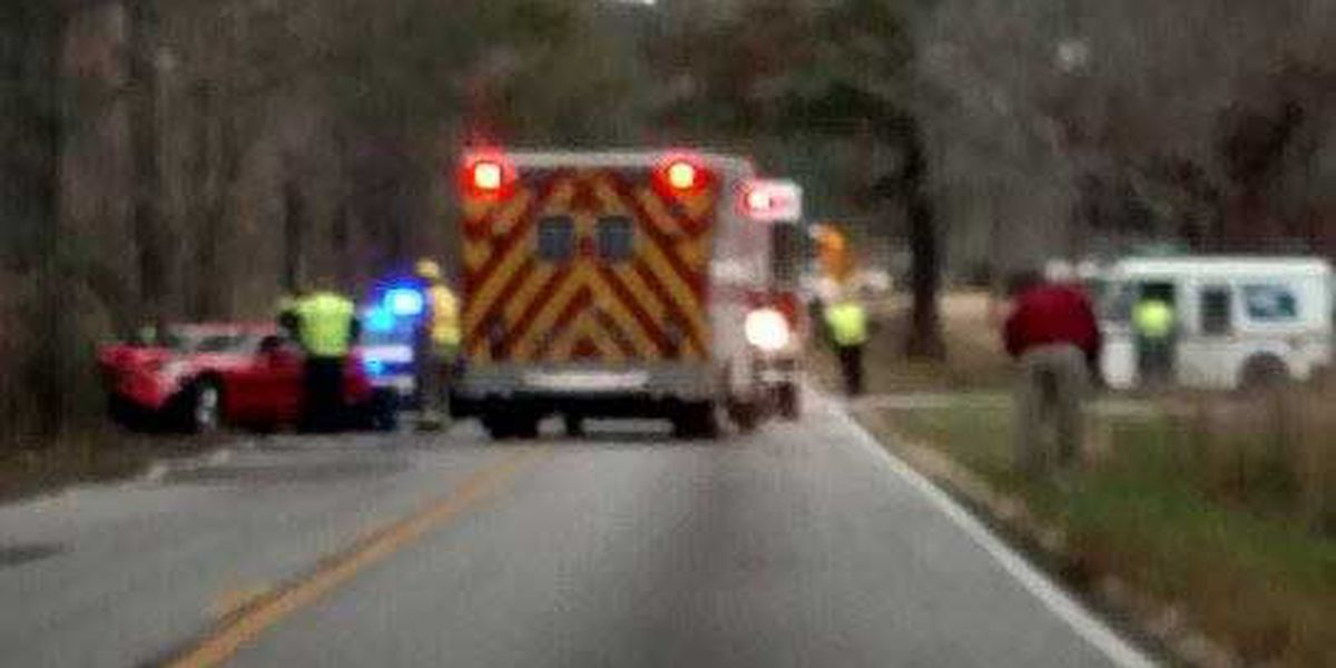 Emergency crews clear accident on Treeland Drive in Ladson