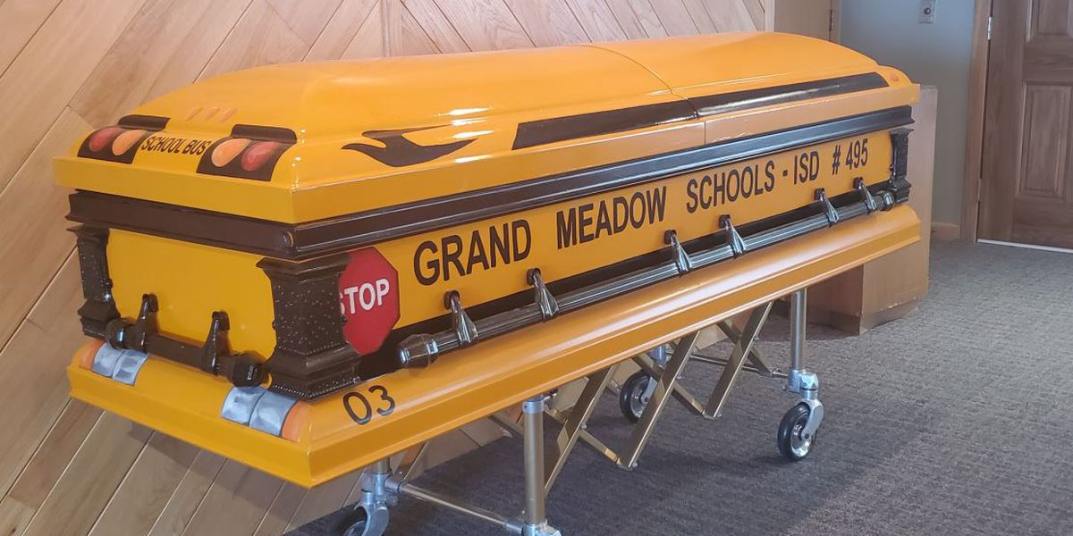 Driver gets wish to be laid to rest in school bus casket
