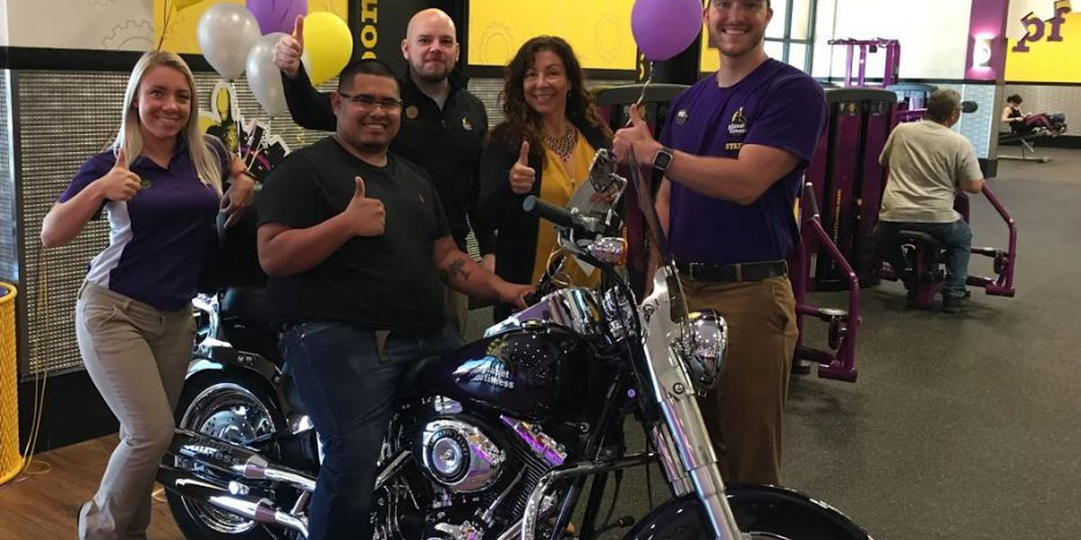 Lowcountry Planet Fitness locations give away customized motorcycle