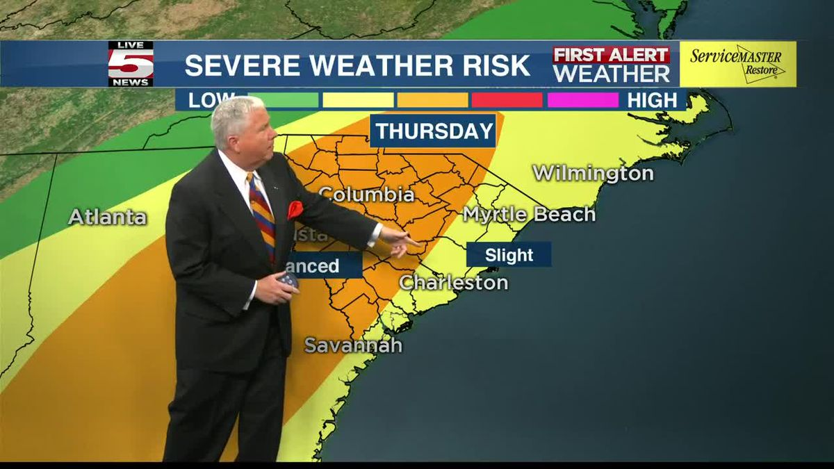 VIDEO: FIRST ALERT: Windy, warm Thursday with late storms