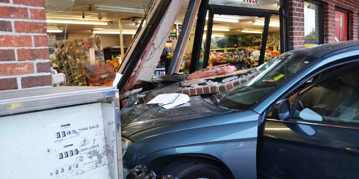 Cashier thrown 10-feet in the air after van crashes into store