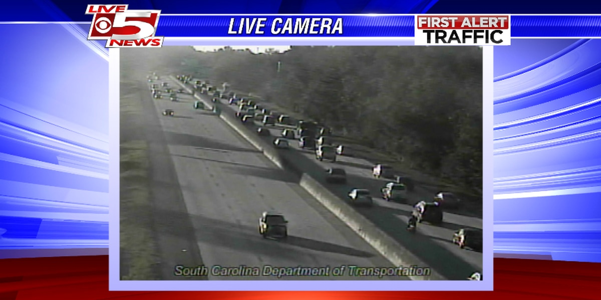 Accident slows eastbound traffic on I-26