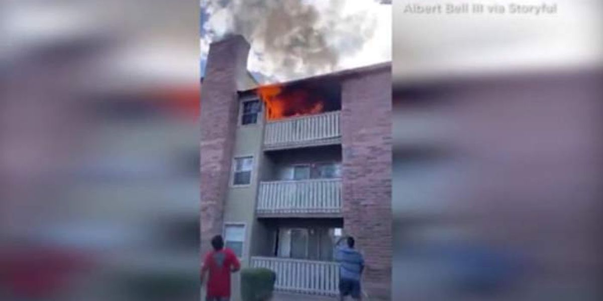 Man honored for saving toddler tossed from burning building