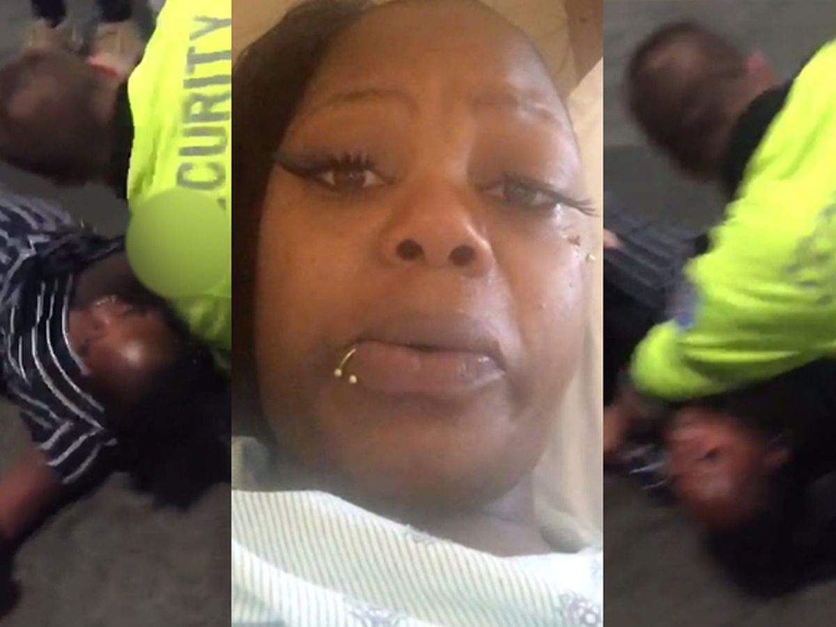 Pregnant mom says mall security tackled her following brawl incident