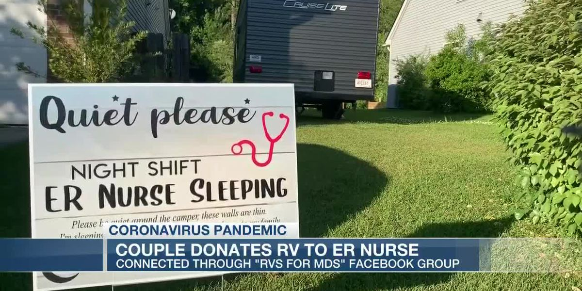 VIDEO: Nurse isolates herself from family by living in RV donated through 'RVs 4 MDs' Facebook group