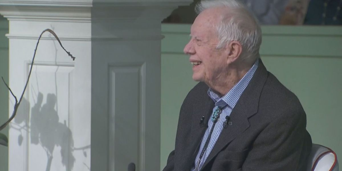 Former President Jimmy Carter returns to Sunday School after hip surgery