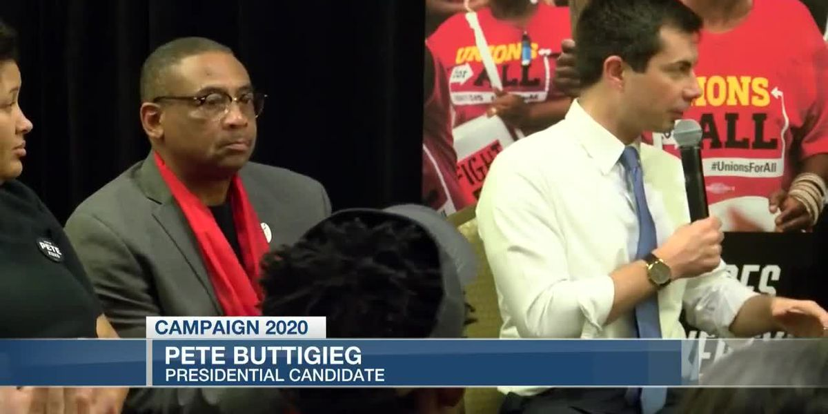 VIDEO: Pete Buttigieg attends wages roundtable