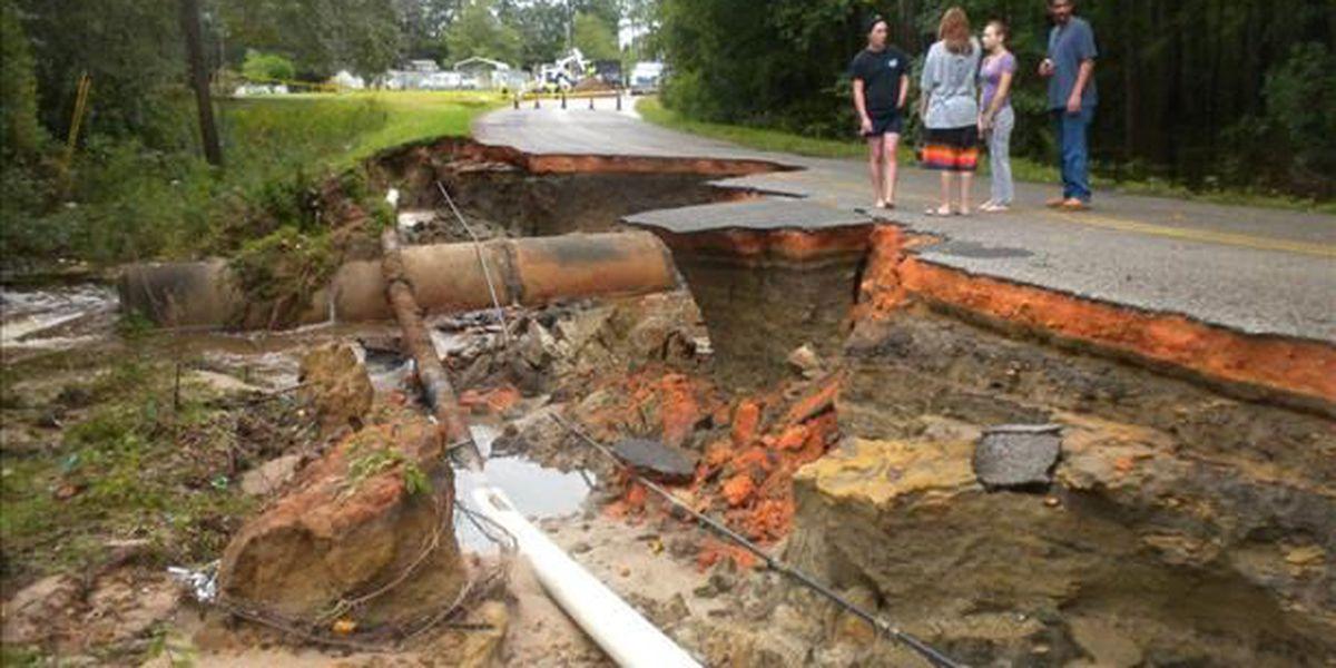 U.S. Dept. of Transportation announces $5M in relief for damaged road, bridges