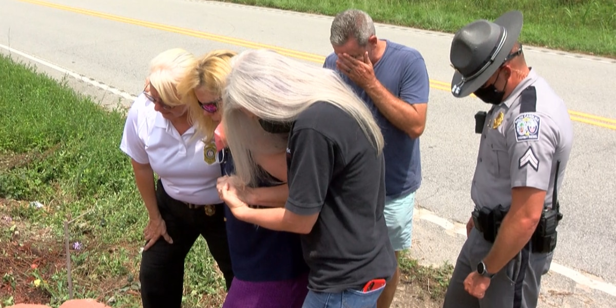 Memorial for DUI victim destroyed, victim's wife pleads for people to be careful
