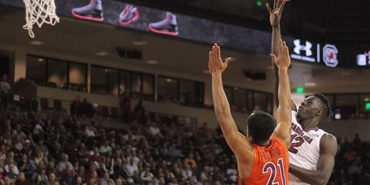 Gamecock men topped by Virginia Tech in exhibition action