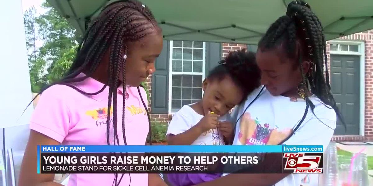 VIDEO: Hall of Fame: Girls raise money to help others through lemonade stand