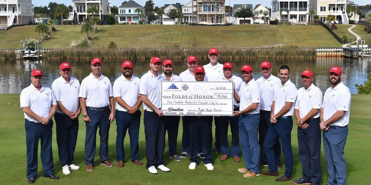 Myrtle Beach golf pros raise over $130K for scholarships for children of fallen, disabled service members