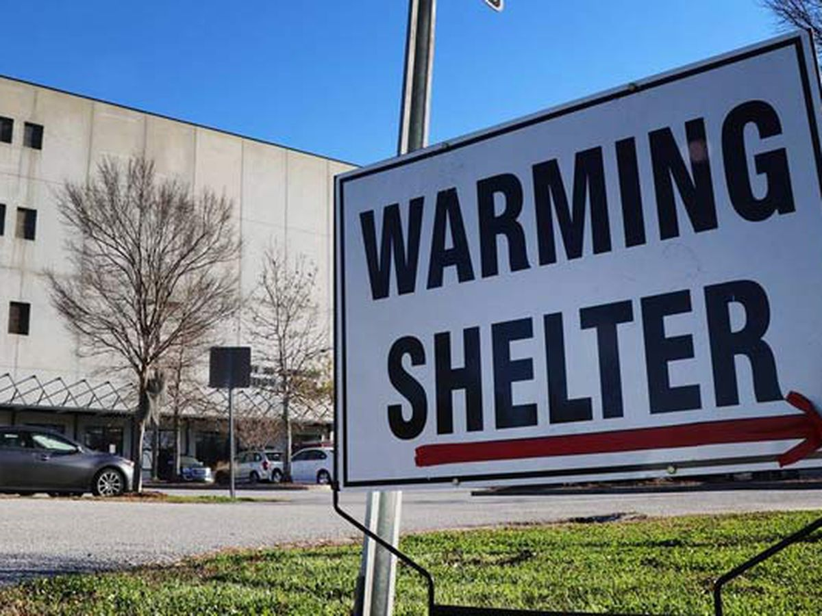 Lowcountry warming shelters to open as colder temperatures approach