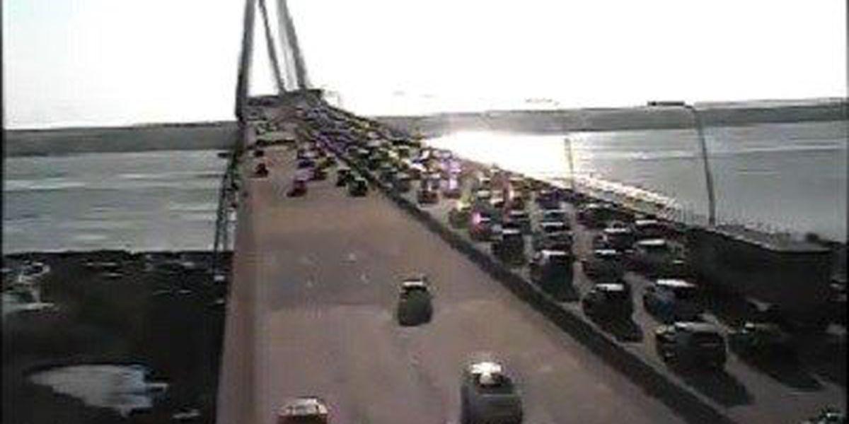 Traffic moving following wreck on Ravenel Bridge