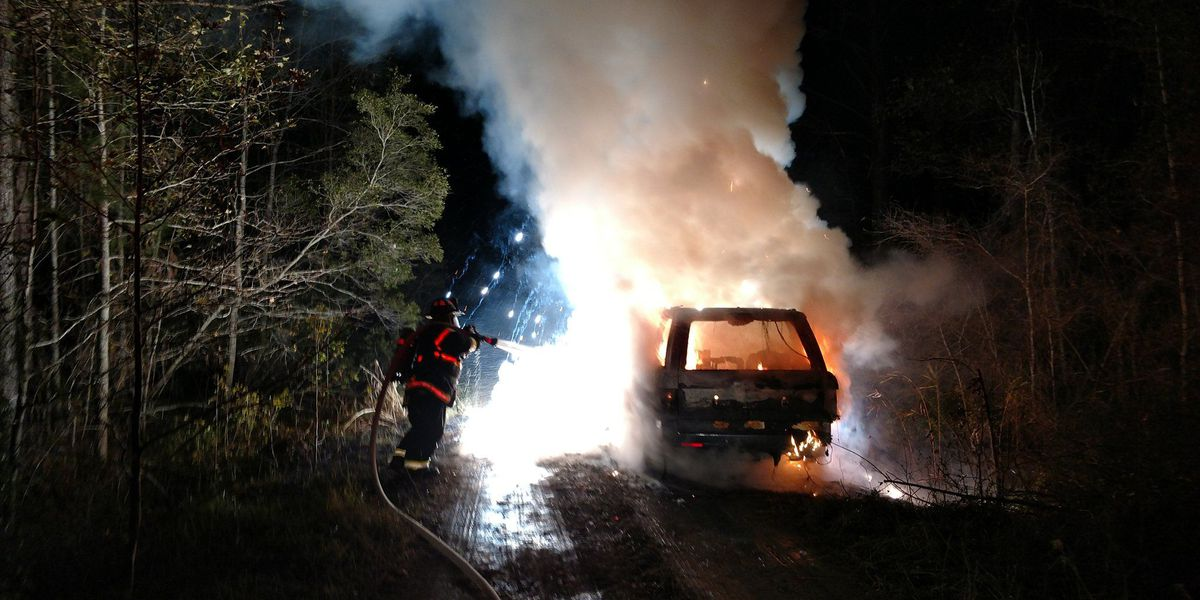 Emergency crews respond to vehicle fire in Awendaw