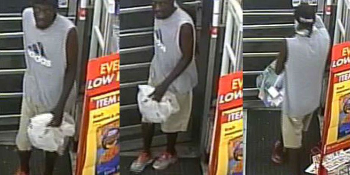 Police searching for man in soap products theft