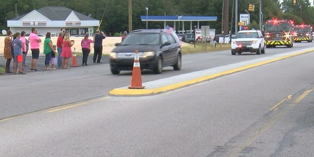 Procession held for fallen Lexington County Firefighter