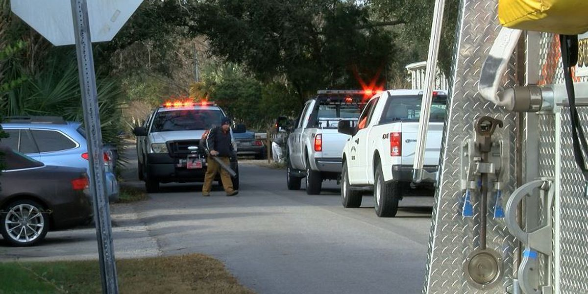 Sullivan's Island firefighters clean up powdery substance found Tuesday