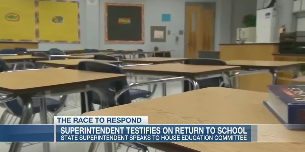 VIDEO: State education superintendent testifies on school reopening plans
