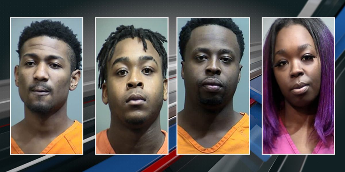 Cops: Four behind bars after asking for change, taking off with $100 bill
