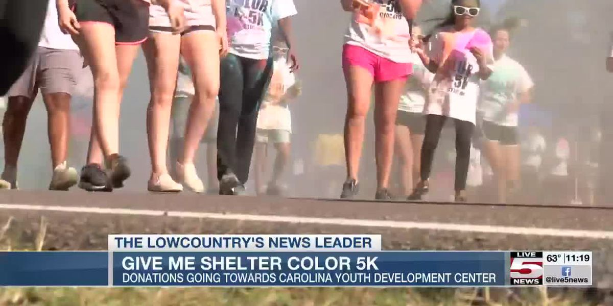 VIDEO: Hundreds run for annual 'Give Me Shelter Color 5K'