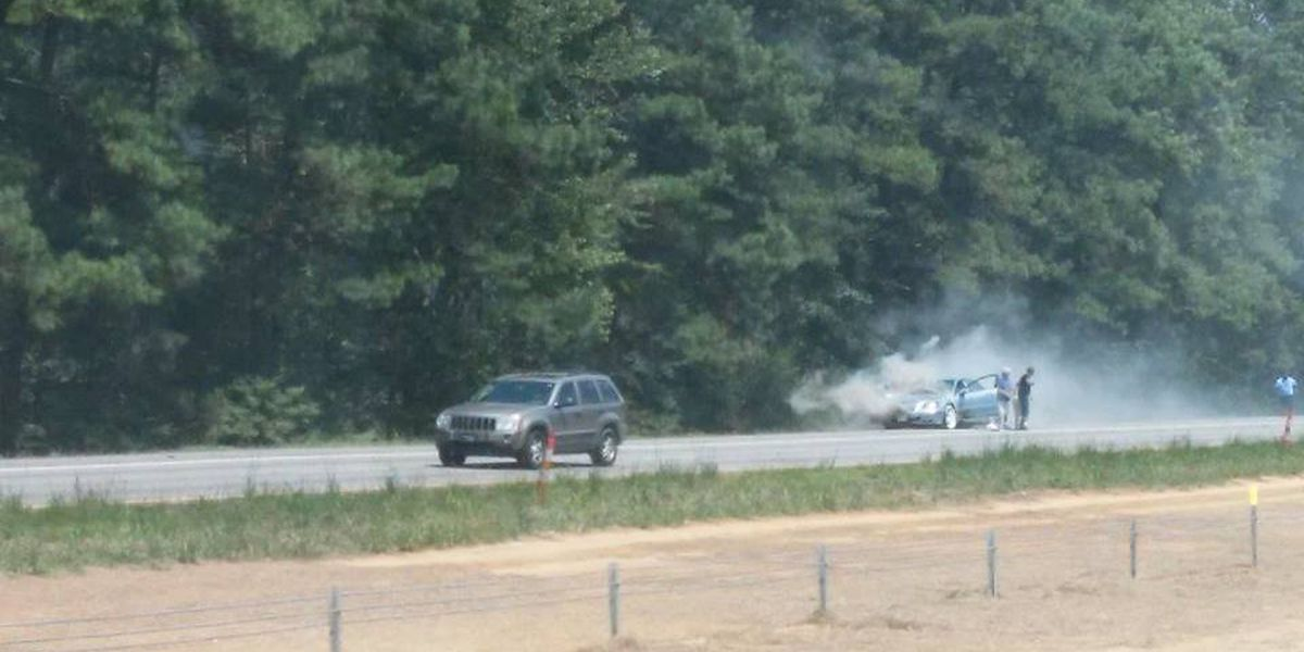 Motorists help couple during car fire along I-26 in Summerville
